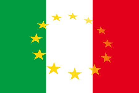 National flag of Italy with a circle of stars