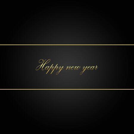 2020 felice anno nuovo con scritte dorate su sfondo nero