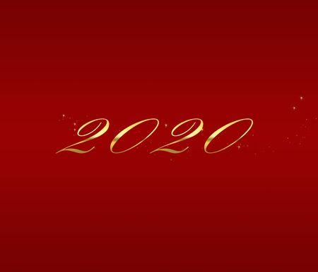 2020 Felice anno nuovo design grafico elegante Archivio Fotografico