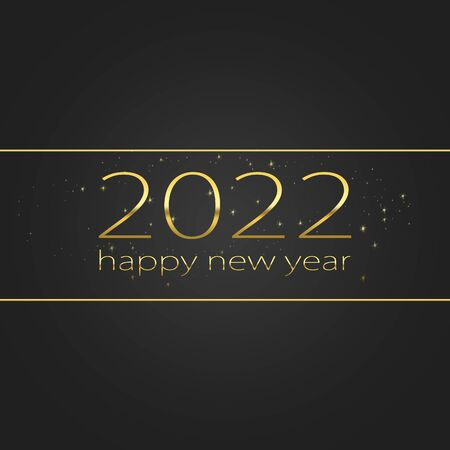 2022 Happy new year elegant graphic design