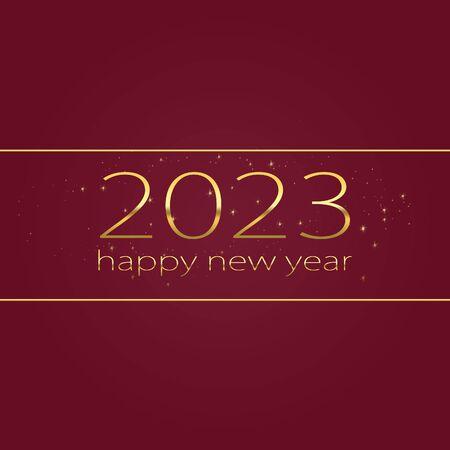 2023 Happy new year elegant graphic design Stock Photo