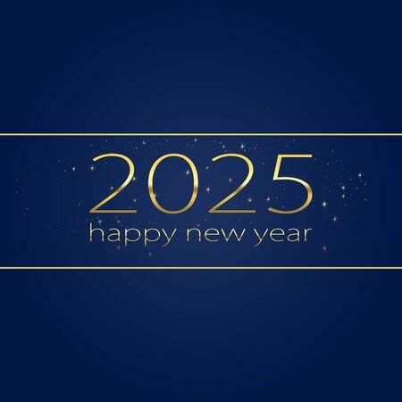2025 Happy new year elegant graphic design