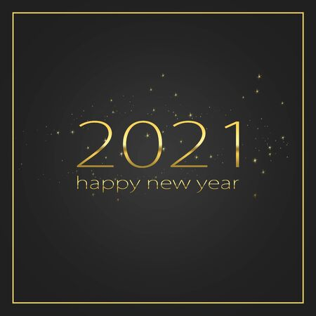 2021 Happy new year elegant graphic design