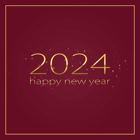 2024 Happy new year stylish graphic design