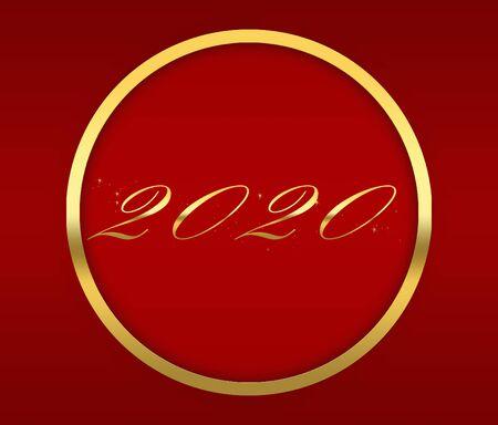 2020 Happy new year stylish graphic design