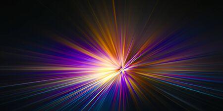 Explosion of colored laser light Stock fotó