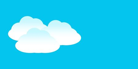 Speech bubble with clouds on a light blue background