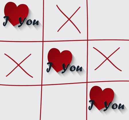 Valentines Day, I love you Stock Photo