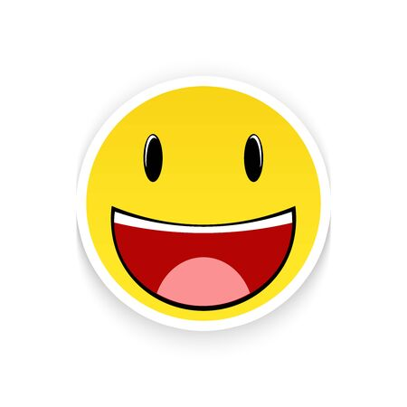 Smiling emoticon isolated on a white background