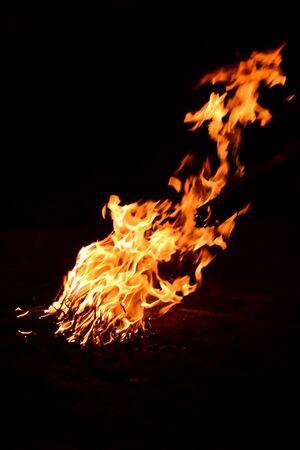Bonfire flames Banco de Imagens