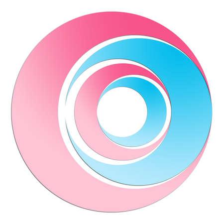 Pink and blue circles