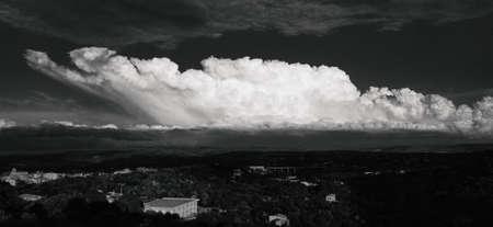 grayscale storm clouds. grayscale clouds. Grayscale photos of clouds, nature, landscape, Archivio Fotografico