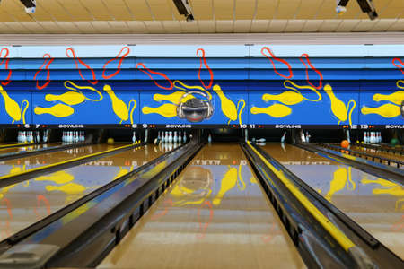 Bowling alley.Generic bowling alleys. Archivio Fotografico - 159241884