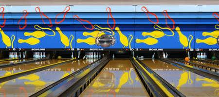 Bowling alley.Generic bowling alleys. Archivio Fotografico