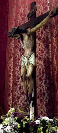 crucifix with jesus.crucifix in the church.
