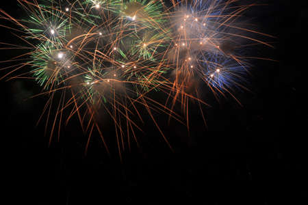 colorful fireworks that welcome the new year Archivio Fotografico