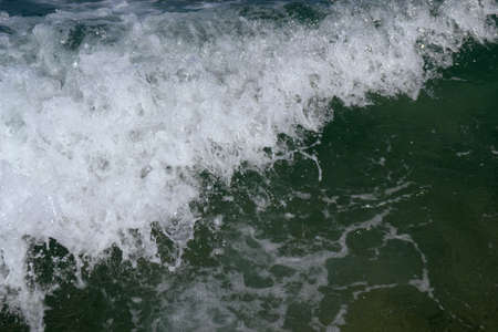 Texture of a foamy wave
