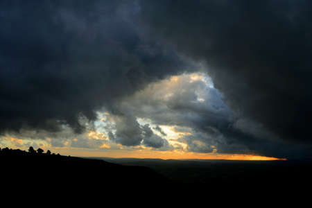 Big storm clouds. Nature Dark storm clouds, beautiful gray storm cloud. Time of the cataclysm.