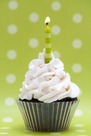 Polka Dot Birthday Cupcake