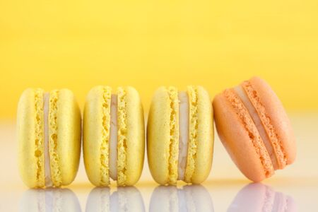 Line of French Macaroons