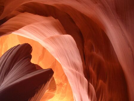 shapes and texture of a slot canyon