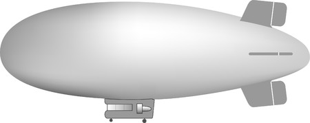 illustration of a gray blimp