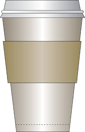 sleeve: fast food coffee cup with a paper sleeve