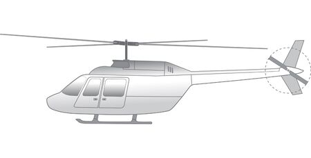 illustration of helicopter