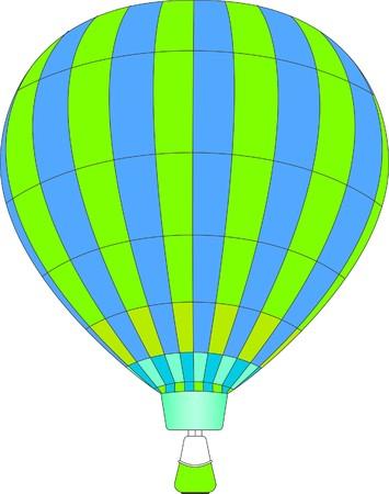 illustration of hot air baloon Imagens - 4158067
