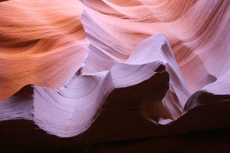 slot canyon: magical shapes and colors of slot canyon          Stock Photo