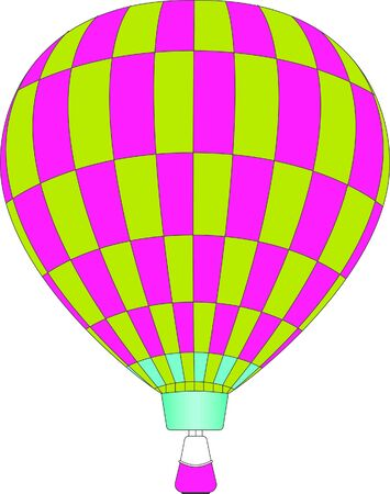 illustration of a hot air balloon Imagens