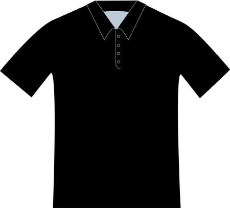 黒のポロシャツのパターン製図