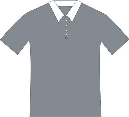 ホワイト カラーのグレーのポロシャツのパターン製図