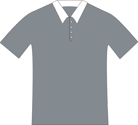 patterndrawing of a gray polo shirt with a white collar Imagens