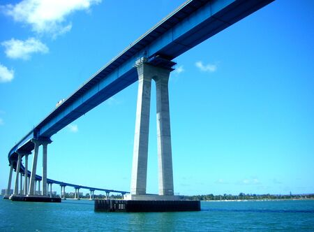 coronado bridge; view from the bottom