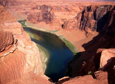 colorado river view from the top cliff
