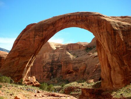 natural sandstone bridge the highest in the world         Imagens