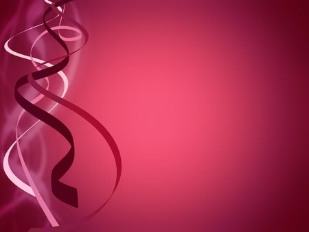 ribbons: swirling ribbons over fuchsia color background Stock Photo
