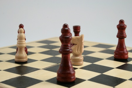 gamesmanship: chess game the focus on the horse