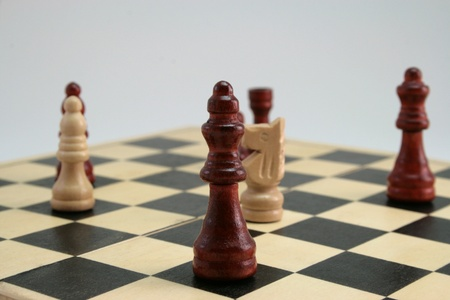 marketshare: The game of chess Stock Photo