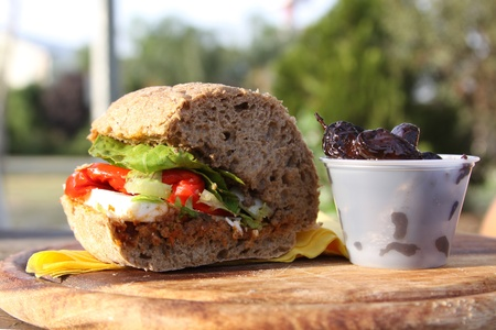 cheez: healthy sandwich outdoor eating