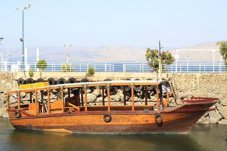 ancient wood look like boat on the sea of galilee in northen israel Stock Photo - 9313352