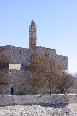 david tower in jerusalem old city outer wall photo