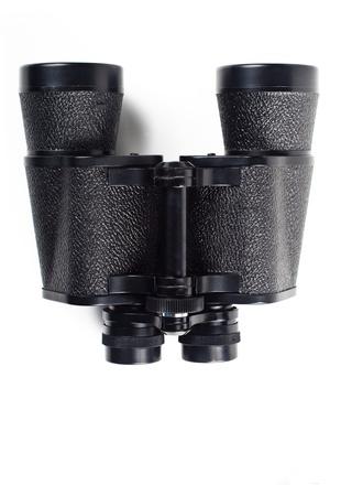 black binoculars isolated on white background Stock Photo - 11770617