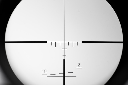 sicario: alcance real de francotirador vista vista Foto de archivo