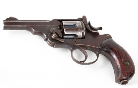 old rusty pistol isolated on white background Stock Photo - 12910081