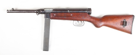 old 30's  gangster mashine gun isolated on white background Stock Photo - 12910115