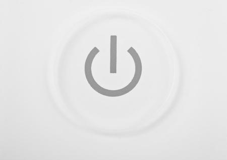 White power button macro close-up photo