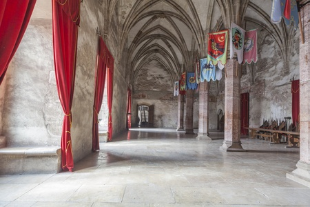 the royal county: Corvin castle Ball room with arcades and pillars