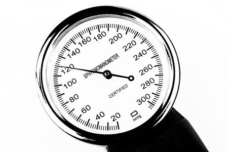 Blood pressure measutment tool sphygmomanometer isolated on white background Stock Photo - 17357175